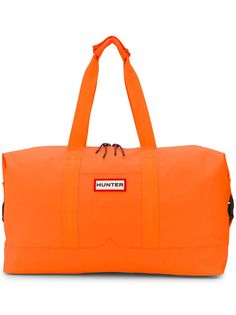 Hunter logo duffle bag