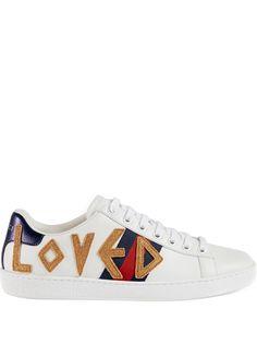 Gucci кроссовки Ace с вышивкой