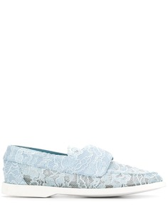 Le Silla Claire lace-embellished loafers