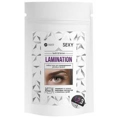 Innovator Cosmetics Набор составов в саше №1 Volume Lift+№2 Volume Fixer+№3 Silk Essence для ламинирования ресниц и бровей Sexy Lamination белый