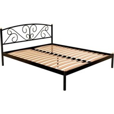 Кровать Стиллмет Эвелин красный лак 160x200