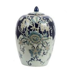 Ваза Glasar с крышкой фарфоровая в классическом китайском стиле 20х20х29см ГЛАСАР