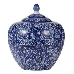 Ваза Glasar фарфоровая с крышкой в классическом китайском стиле 21х21х25см ГЛАСАР