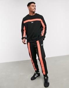 Черные джоггеры с отделкой лентой adidas Originals RYV-Черный