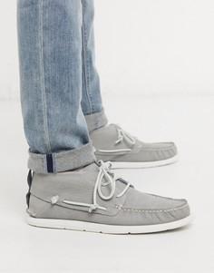 Серые кожаные ботинки чукка UGG-Серый