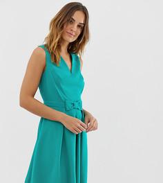 Короткое приталенное платье Naf Naf romantic-Черный