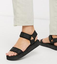 Черные спортивные сандалии для широкой стопы ASOS DESIGN-Черный