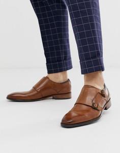 Светло-коричневые кожаные туфли-монки с ремешками Goodwin Smith-Светло-коричневый