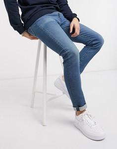 Синие супероблегающие джинсы стретч Levis 519-Синий Levis®