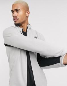Серая куртка на молнии New Balance-Серый