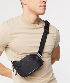 Черная сумка-кошелек на пояс Bershka-Черный