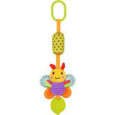 """Игрушка-подвеска Жирафики """"Бабочка"""", с колокольчиком и прорезывателем"""