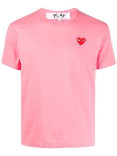 Comme Des Garçons Play футболка с вышивкой