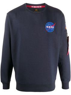 Alpha Industries толстовка с вышивкой NASA