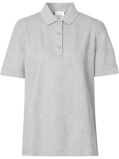 Burberry рубашка-поло с вышивкой TB