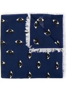 Kenzo шарф с фирменным принтом глаз