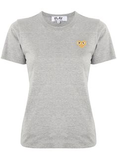 Comme Des Garçons Play футболка с круглым вырезом и вышитым логотипом