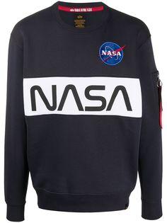 Alpha Industries x NASA embroidered logo sweatshirt