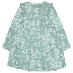 Платье crockid размер 98, серо-зеленый