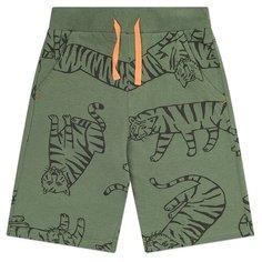 Шорты crockid размер 104, бронзово-зеленый, тигры к1243