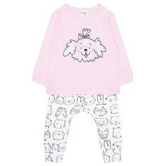 Комплект одежды crockid размер 68, розовый