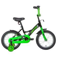 Детский велосипед Novatrack Strike 14 (2020) черный/зеленый (требует финальной сборки)