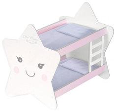 """Кроватка для куклы двухъярусная """"Мартин"""", 51,5 см De Cuevas"""
