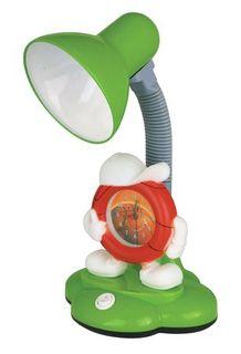 Светильник настольный KD-388 с часами 40W Е27 зеленый Camelion 44566