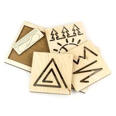 """Межполушарная доска """"Треугольник"""" Woodland (Сибирский сувенир)"""