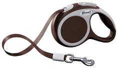Рулетка для собак Flexi VARIO Brown 3 метра XS для собак до 12 кг