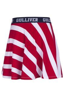Юбка для девочки Gulliver, цв.красный, р-р 146