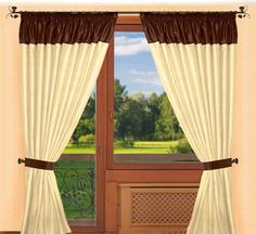 Классические шторы РеалТекс Catherine Цвет: Шампань, Венге, высота 260 см
