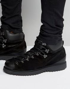 Замшевые ботинки на шнуровке Religion-Черный