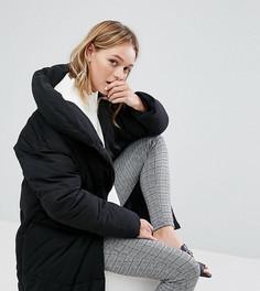 Свободное дутое пальто Monki-Черный