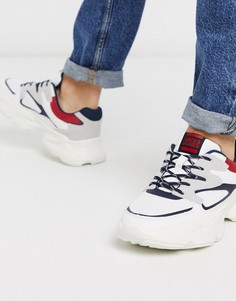 Кроссовки на массивной подошве с контрастными вставками Jack & Jones-Белый