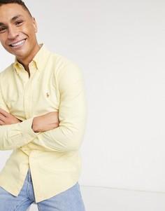 Желтая оксфордская рубашка узкого кроя с логотипом Polo Ralph Lauren-Желтый