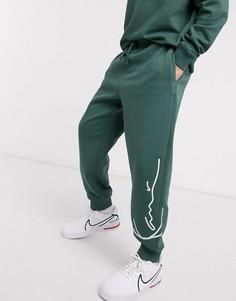 Зеленые джоггеры в стиле ретро Karl Kani-Зеленый