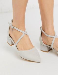 Туфли на блочном каблуке XTI-Серый