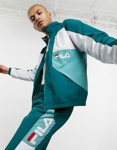 Зеленая спортивная куртка со вставками Fila-Зеленый