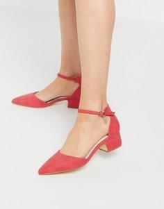 Туфли на блочном каблуке XTI-Красный