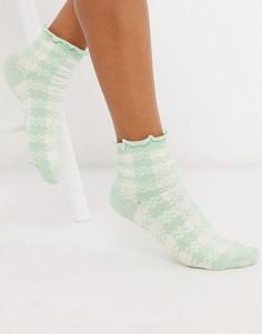 Носки в клеточку Jonathan Aston-Зеленый