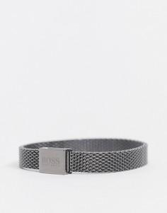 Металлический сетчатый браслет серого цвета Hugo Boss-Серый
