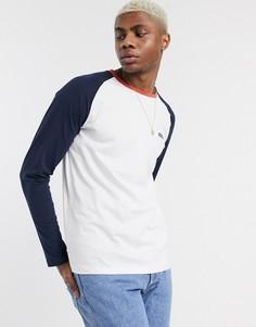 Белая футболка с длинными рукавами реглан и логотипом Jack & Jones Originals-Белый