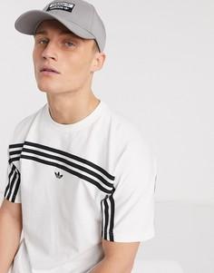 Серая кепка с логотипом adidas Originals-Серый