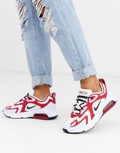 Белые кроссовки с бордовыми вставками Nike Air Max 200-Белый
