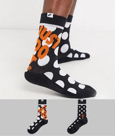 Набор из 2 пар черных носков Nike Just Do It-Черный
