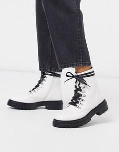 Белые ботинки на шнуровке с люверсами RAID-Белый