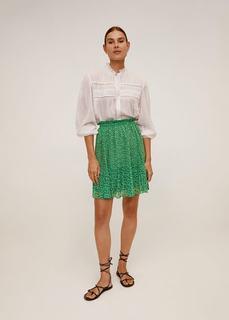 Плиссированная юбка с цветочным принтом - Mauri Mango