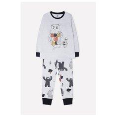 Пижама crockid размер 104, серый меланж