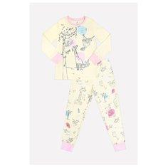 Пижама crockid размер 98, бледно-лимонный